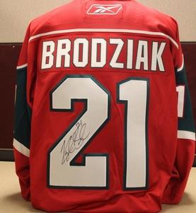 Brodziak Signed Red Replica Jersey