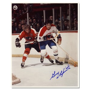 Guy Lapointe Autographed Montreal Canadians/Philadelphia Flyers 8x10 Photo