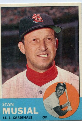 Photo of 1963 Topps #250 Stan Musial -- Cardinals Hall of Famer