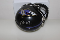 NFL - RAVENS KENNETH DIXON SIGNED RAVENS MINI HELMET (SIGNATURE UPSIDE-DOWN)