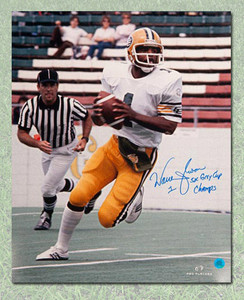 Warren Moon Edmonton Eskimos Autographed 16x20 Photo w 5x Grey Cup Note