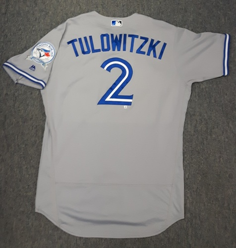 Authenticated Game Used Jersey - #2 Troy Tulowitzki (September 19, 2016). Tulowitzki went 1-for-4 with 1 Double and 1 Run. Estrada started the game with 6 No-Hit Innings.