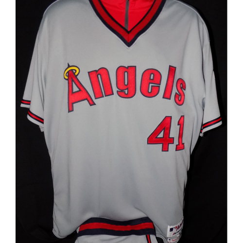 Photo of Charles Nagy Game-Used 1977 Road Grey Throwback Jersey