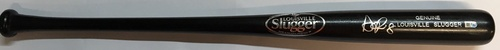 Photo of Nori Aoki Autographed Black Louisville Slugger Bat