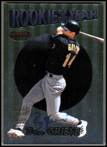 Photo of 1999 Bowman's Best Rookie of the Year #ROY1A Ben Grieve AU