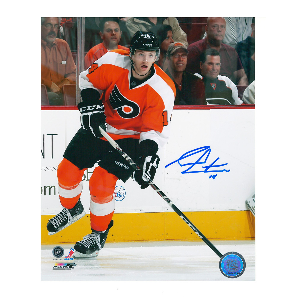 SEAN COUTURIER Signed Philadelphia Flyers 8 X 10 Photo - 70424