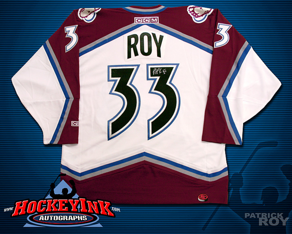 PATRICK ROY Signed White Colorado Avalanche CCM Jersey