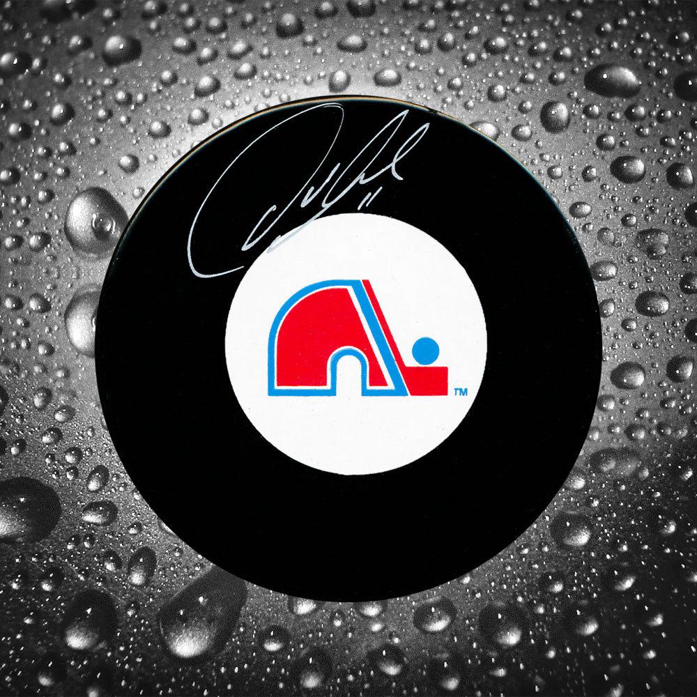 Owen Nolan Quebec Nordiques Autographed Puck