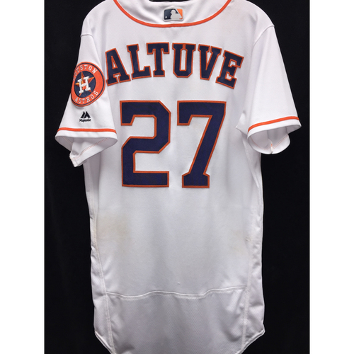 Photo of Game-Used 2016 Jose Altuve Home Jersey