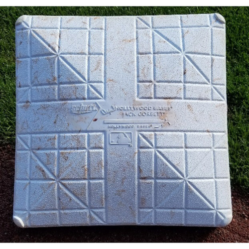 Photo of 2017 Game-Used 2nd Base - Andrew Knapp 1st career hit