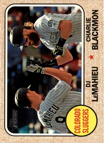 Photo of 2017 Topps Heritage #336 DJ LeMahieu/Charlie Blackmon
