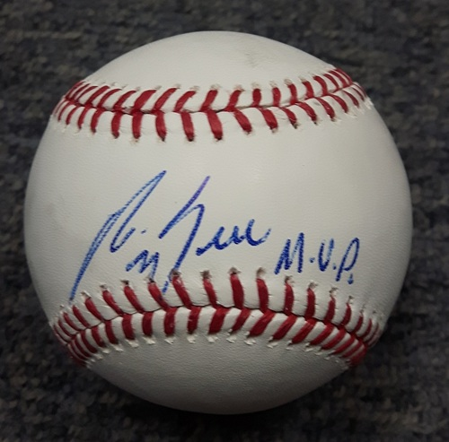 Photo of BLUE JAYS AUTHENTICS-Autographed George Bell Baseball with MVP Insciption