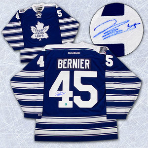 Jonathan Bernier Toronto Maple Leafs Autographed 2014 Winter Classic Jersey