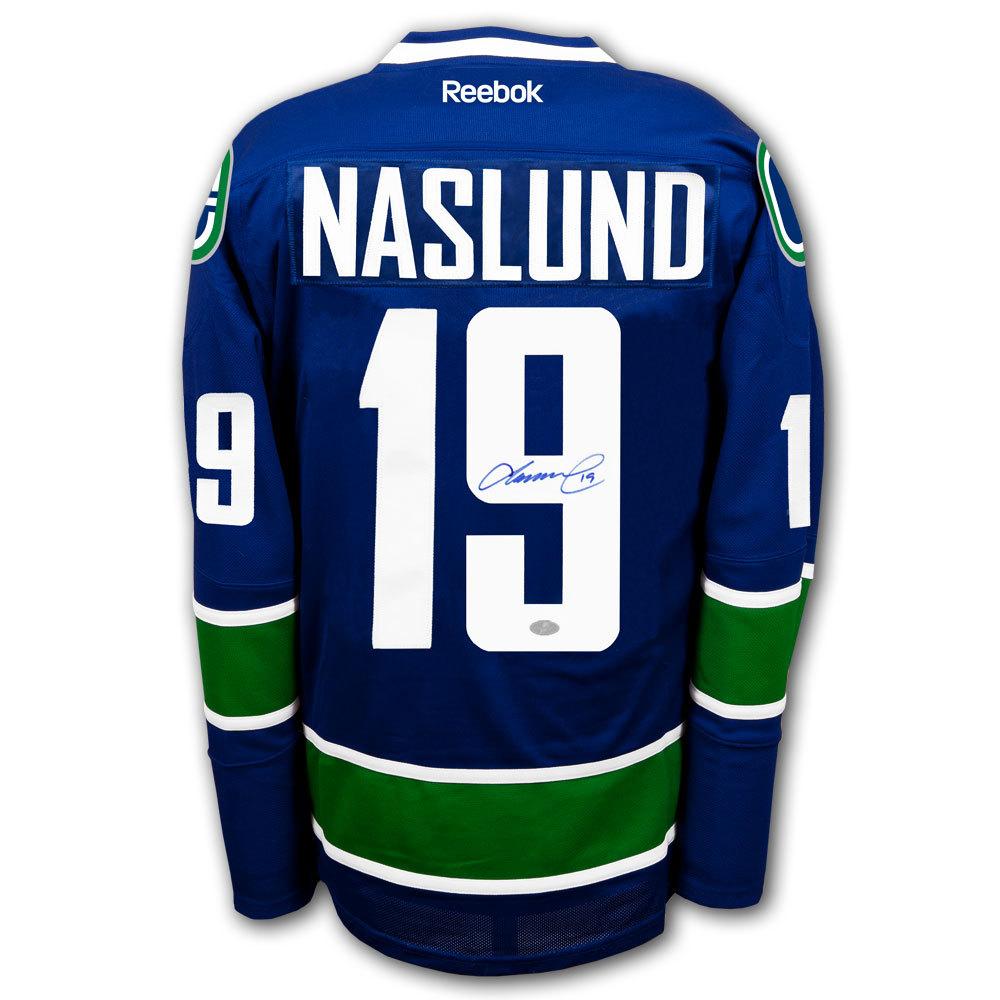 Markus Naslund Vancouver Canucks RBK Premier Autographed Jersey