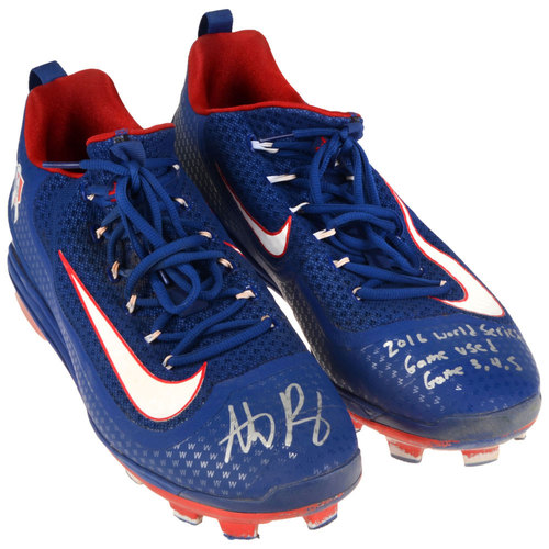 Photo of Anthony Rizzo Chicago Cubs Autographed World Series Game-Used Pair of Cleats with 2016 World Series Game Used, Game 3,4,5 Inscriptions