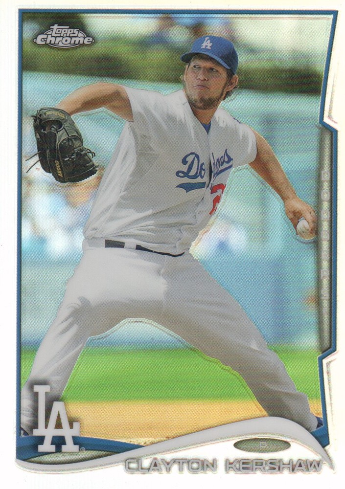 2014 Topps Chrome Refractors #100 Clayton Kershaw