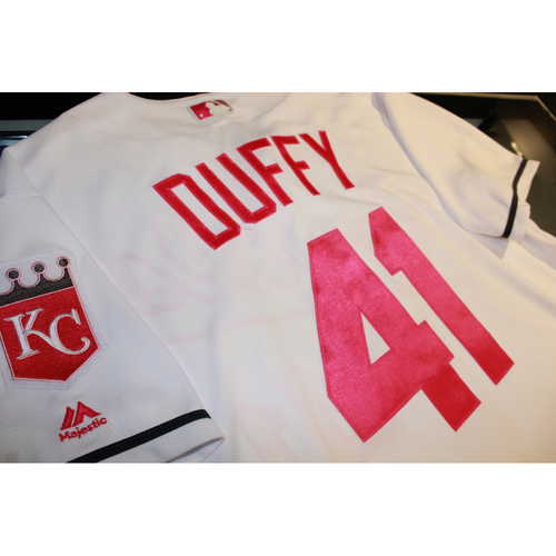 Photo of Danny Duffy Mother's Day Game-Used Jersey (5/14/17 BAL at KC) (Size 46)
