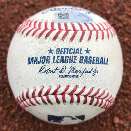 Photo of San Francisco Giants - Game-Used Baseball - Eduardo Nunez - 1st Career Walk-Off (also, Denard Span single)