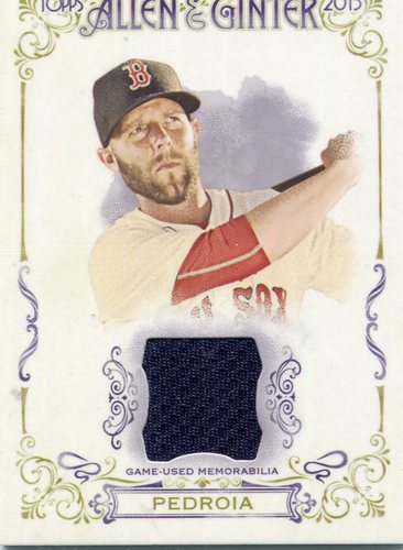 Photo of 2015 Topps Allen and Ginter Relics Dustin Pedroia -- Red Sox post-season