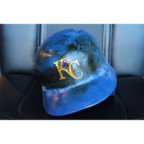 Photo of Game-Used Helmet: Melky Cabrera (Size 7 5/8 - ARI at KC - 9/29/17)