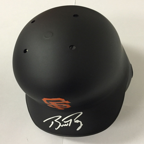Photo of Buster Posey Autographed Giants Batting Helmet
