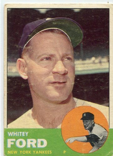 Photo of 1963 Topps #446 Whitey Ford -- Yankees Hall of Famer
