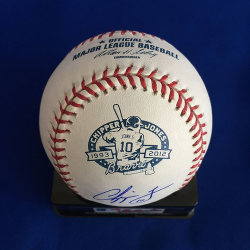 Photo of UMPS CARE AUCTION: Chipper Jones Signed Commemorative Baseball