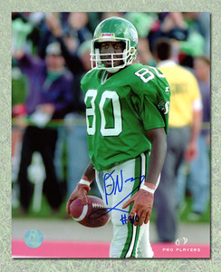 Don Narcisse Saskatchewan Roughriders Autographed CFL Football 8x10 Photo