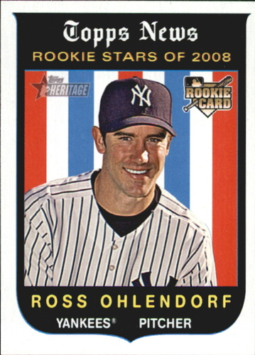 Photo of 2008 Topps Heritage #137 Ross Ohlendorf RC