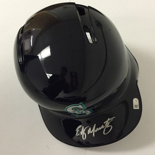 Photo of Edgar Martinez Autographed Mariners Batting Helmet