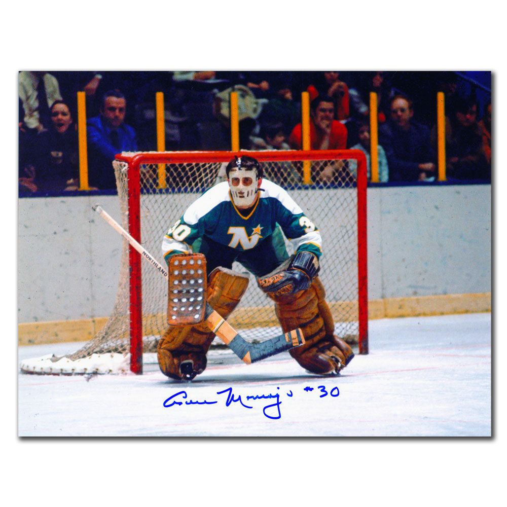 Cesare Maniago Minnesota North Stars Autographed 8x10