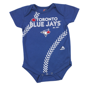 Toronto Blue Jays Newborn/Infant Baseball Creeper Onesie Royal by Majestic