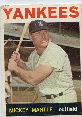 Photo of 1964 Topps #50 Mickey Mantle -- Yankees Hall of Famer
