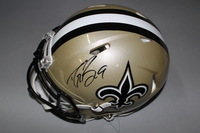 NFL - SAINTS DREW BREES SIGNED SAINTS REVOLUTION PROLINE HELMET