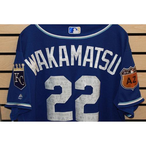 Photo of Game-Used Don Wakamatsu Spring Training Jersey (Size 48) (4/14/17 LAA @ KC)