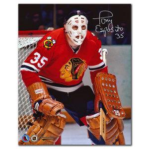 Tony Esposito Chicago Blackhawks Close Up Autographed 8x10