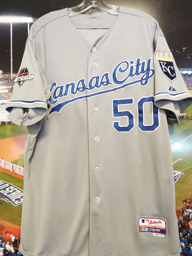 Photo of Club Issued Miguel Almonte Grey 2015 Postseason Jersey