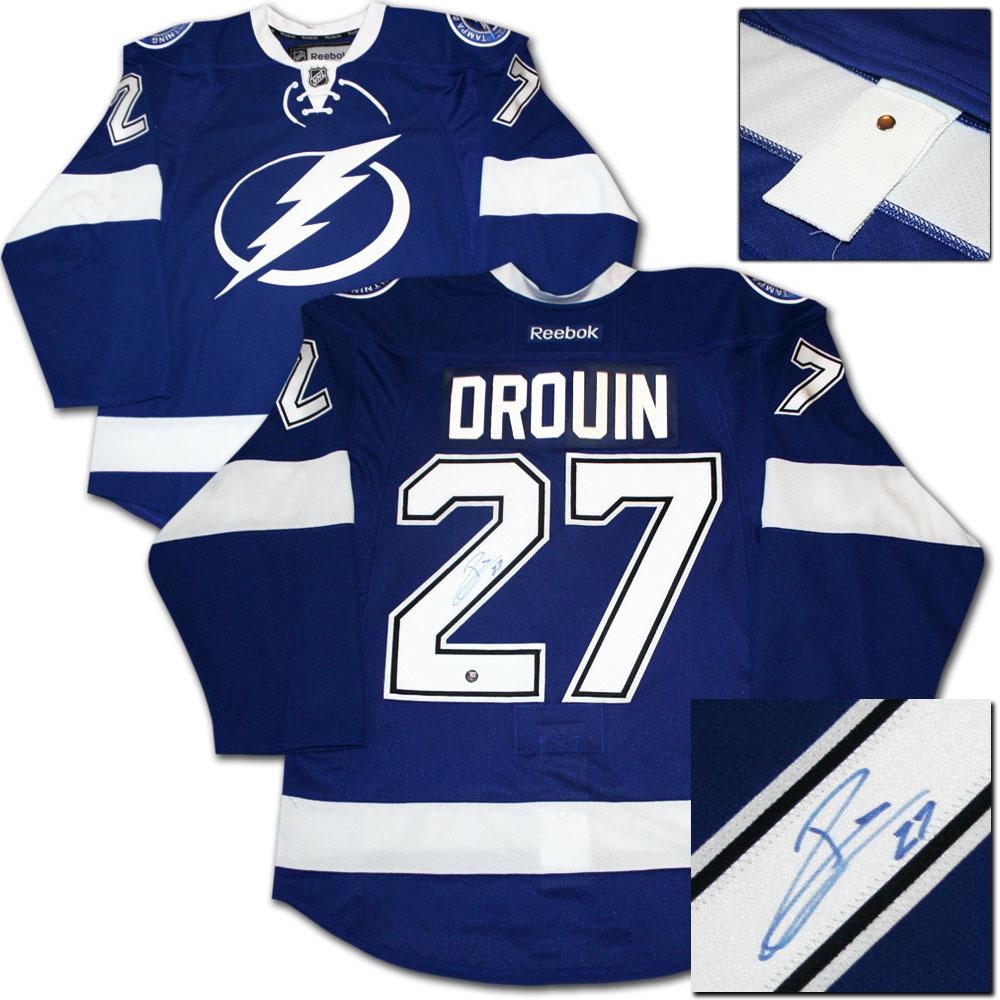 Jonathan drouin jersey - Jonathan Drouin Autographed Tampa Bay Lightning Authentic Pro Jersey
