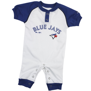 Toronto Blue Jays Newborn Game Time Coverall White by Majestic