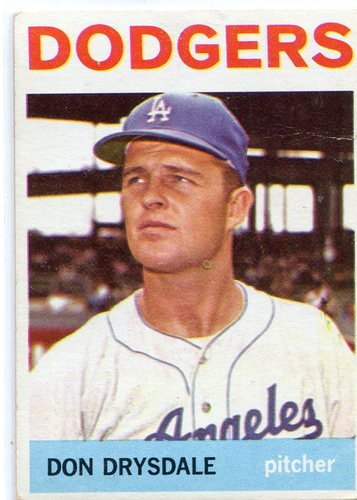 Photo of 1964 Topps #120 Don Drysdale -- Dodgders Hall of Famer