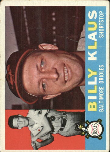 Photo of 1960 Topps #406 Billy Klaus