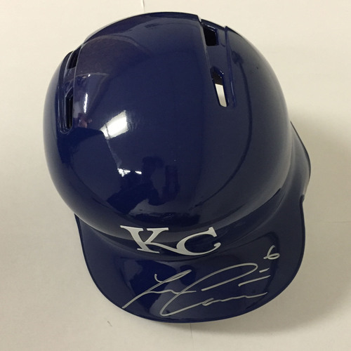 Photo of Lorenzo Cain Autographed Royals Batting Helmet
