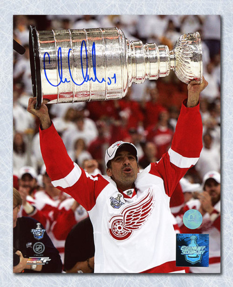 Chris Chelios Detroit Red Wings Autographed Stanley Cup 16x20 Photo
