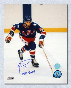 Ken Morrow Team USA Autographed 1980 Olympic Gold 8x10 Photo *New York Islanders*