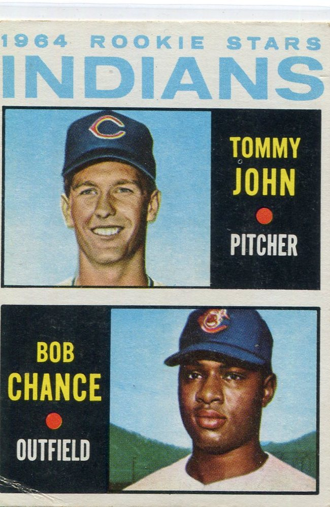 1964 Topps #146 Rookie Stars/Tommy John Rookie Card/Bob Chance
