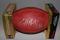 NFL - SEAHAWKS CLIFF AVRIL SIGNED AUTHENTIC FOOTBALL