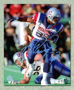 Mike Pringle Montreal Alouettes Autographed Rushing 8x10 Photo
