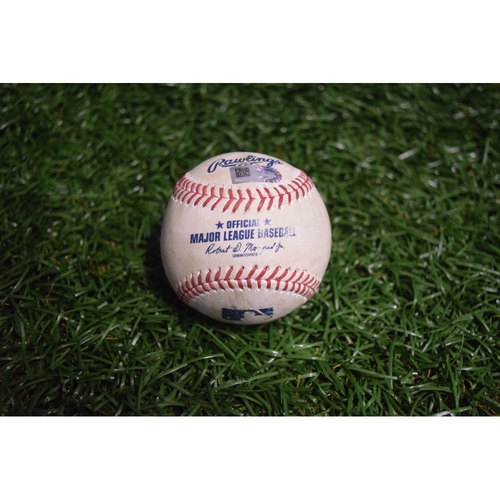 Photo of Game-Used Baseball: Mike Trout Double off Matt Andriese