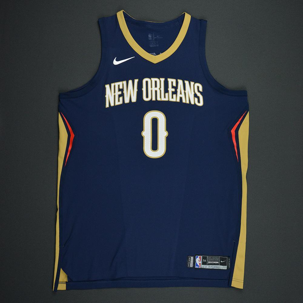 DeMarcus Cousins - New Orleans Pelicans - Kia NBA Tip-Off 2017 - Game-Worn Jersey - Worn During 3 Games - 3 Double-Doubles