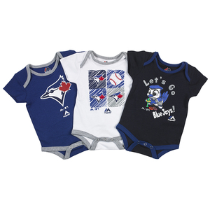 Toronto Blue Jays Newborn/Infant 3 Pack Go Team Creeper Set by Majestic